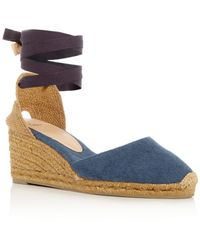 Castaner - Women's Carina Ankle Tie Espadrille Wedge Sandals - Lyst
