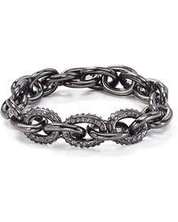 Aqua   Pavé Link Stretch Bracelet   Lyst