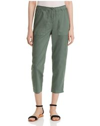 Eileen Fisher - Organic Linen Cropped Trousers - Lyst