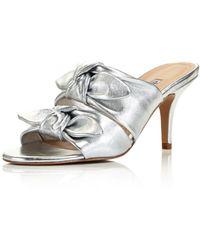 Charles David - Women's Corona Leather High Heel Slide Sandals - Lyst