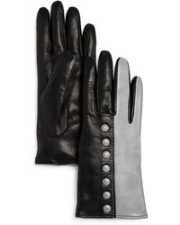 Bloomingdale's - Color-block Leather Gloves - Lyst