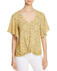 Status By Chenault - Floral Twist-front Top - Lyst