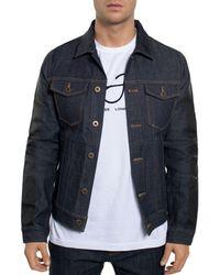Sean John - Striped-sleeve Denim Jacket - Lyst
