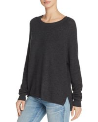 Minnie Rose - Shaker Stitch High/low Sweater - Lyst