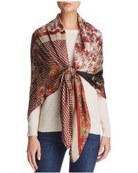Larioseta - Floral Patchwork Silk Scarf - Lyst