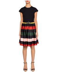 Ted Baker - Aneli Cruise Stripe-detail Dress - Lyst