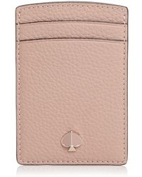Kate Spade - Leather Card Case - Lyst