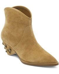 Marc Fisher - Women's Rippa Suede Studded Heel Booties - Lyst