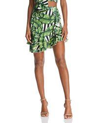 Red Carter - Sabrinah Asymmetric Printed Skirt - Lyst