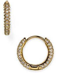Nadri - Huggie Hoop Earrings - Lyst