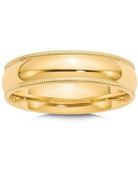 Bloomingdale's - Men's 6mm Milgrain Comfort Fit Wedding Band In 14k Yellow Gold - Lyst