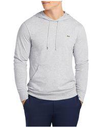 Lacoste | Long Sleeve Jersey Hooded Tee | Lyst