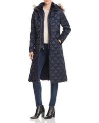 Laundry by Shelli Segal - Diamond - Quilted Maxi Puffer Coat - Lyst
