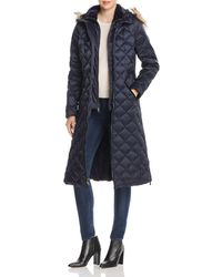 Laundry by Shelli Segal - Diamond-quilted Maxi Puffer Coat - Lyst