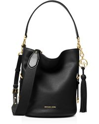 240f0f2af76 Michael Kors - Michael Brooke Pebble Leather Bucket Shoulder Bag - Lyst