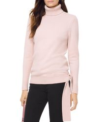 MICHAEL Michael Kors - Turtleneck Side-tie Sweater - Lyst