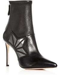 Pour La Victoire - Women's Ceara Leather & Mesh Pointed Toe Booties - Lyst