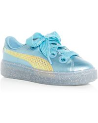 d01467f669aca8 PUMA - X Sophia Webster Women s Glitter Princess Leather Lace Up Platform  Trainers - Lyst