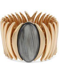 Robert Lee Morris - Oval Stone Sculptural Stretch Bracelet - Lyst