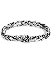 John Hardy - Men's Classic Chain Sterling Silver Medium Woven Bracelet - Lyst