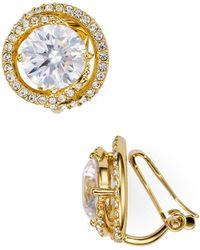 Nadri - Round Clip-on Earrings - Lyst