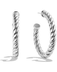 David Yurman | Cable Classics Hoop Earrings | Lyst