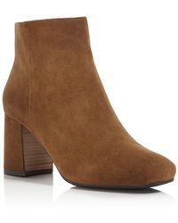 Gentle Souls - Troy Suede Block Heel Booties - Lyst