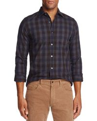 Bloomingdale's - Brushed-flannel Plaid Classic Fit Button-down Shirt - Lyst