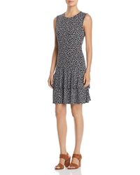MICHAEL Michael Kors - Sleeveless Printed Tiered-hem Dress - Lyst