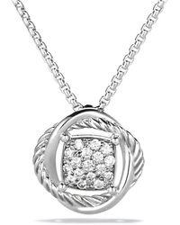 David Yurman - Infinity Pendant With Diamonds On Chain - Lyst