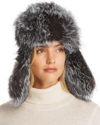 53c147e99f7 Lyst - Inverni Monnalisa Double Triple Fox Fur Pom Pom Cashmere Hat ...