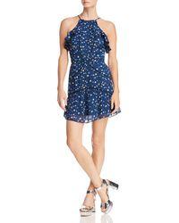 Karina Grimaldi - Angelina Ruffled Floral-print Mini Dress - Lyst