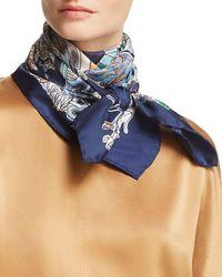 Ferragamo - Boutiques Print Silk Scarf - Lyst
