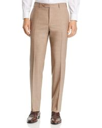 Canali - Siena Tropical-weave Solid Classic Fit Dress Pants - Lyst