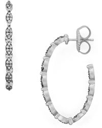 Freida Rothman - Pavé Hoop Earrings - Lyst