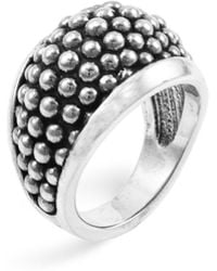 "Lagos - Sterling Silver ""caviar"" Domed Ring - Lyst"