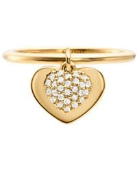Michael Kors - Pavé Heart Duo Ring - Lyst
