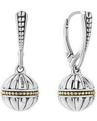 Lagos - 18k Gold & Sterling Silver Caviar Talisman Beaded Drop Earrings - Lyst