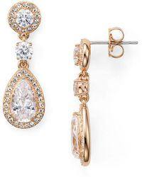 Nadri - Pear Shaped Drop Earrings - Lyst