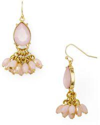 Aqua - Crystal Drop Earrings - Lyst