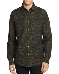 Sovereign Code - Camouflage-print Regular Fit Sport Shirt - Lyst