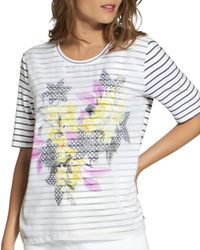 a7c9ebedf8a6c7 Basler - Striped Floral - Print Tee - Lyst