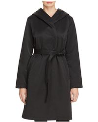 Eileen Fisher - Hooded Belted Coat - Lyst