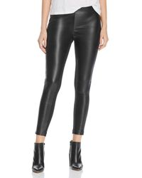 Donna Karan - New York Faux-leather Front Pants - Lyst