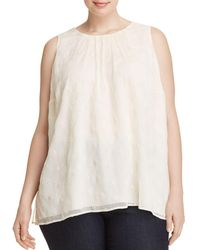 Vince Camuto Signature - Sleeveless Eyelet Top - Lyst