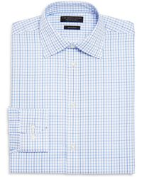 Bloomingdale's - Windowpane Regular Fit Dress Shirt - Lyst