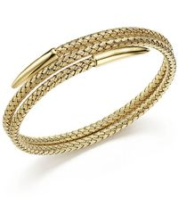 Bloomingdale's - 14k Yellow Gold Woven Wrap Bangle - Lyst