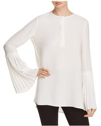 Lafayette 148 New York - Shellie Silk Bell-sleeve Blouse - Lyst