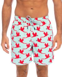 a8f0fa91cb Superdry Parrot International Swim Trunks in Blue for Men - Lyst
