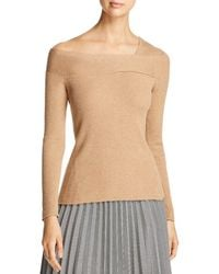 Donna Karan - New York Ribbed Asymmetric Neck Sweater - Lyst